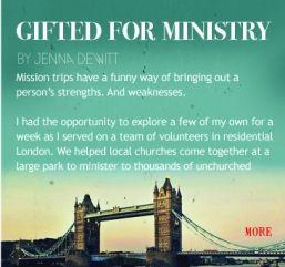 gifted for ministry