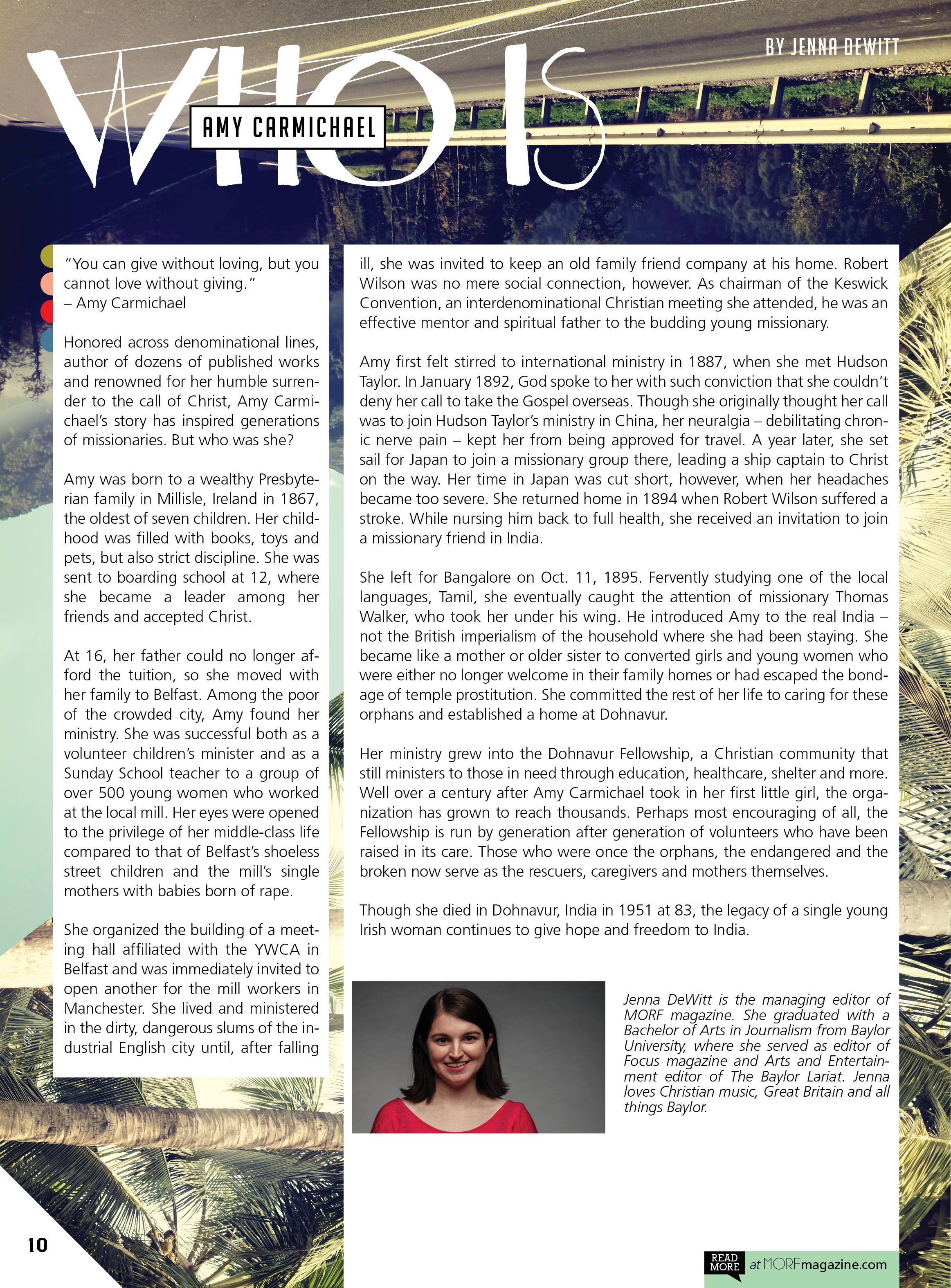 MORF Magazine – Jenna DeWitt